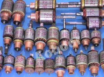 之间,绝大多数汽车启动电机电枢均采用单匝绕组,每个单匝线圈单元采用